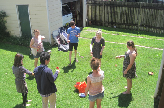 ARET australian recreation and educational tours wollongong japanese immersion - playing kendama