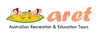 Homepage ARET Australian Recreation Education Tours logo