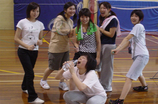 ARET high school and university australian recreation and educational tours wollongong urac sport badminton